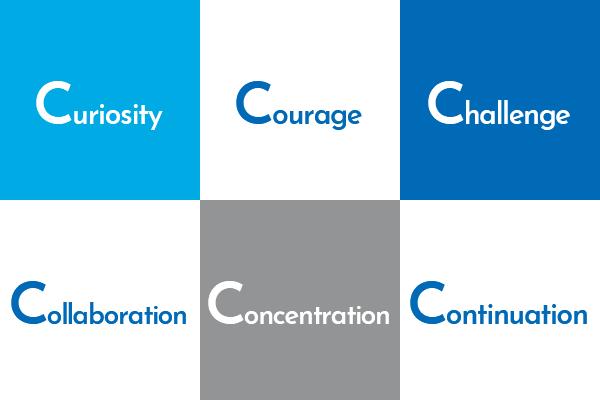 好奇心、勇気、チャレンジ、協力、集中、継続